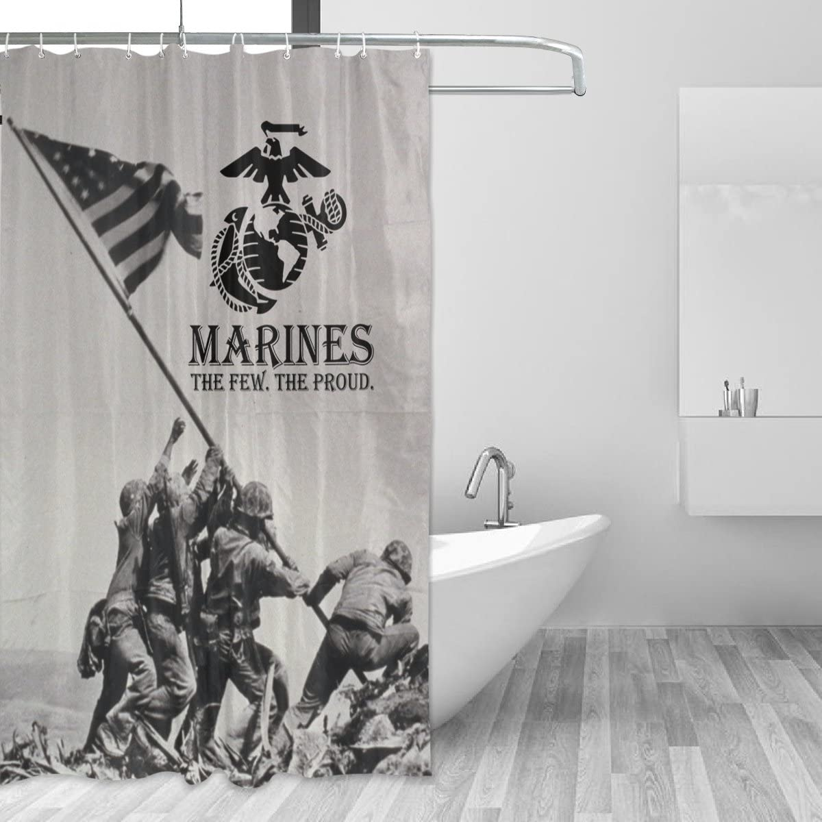 """Donnapink USMC US Marine Corps The Few. The Proud. Waterproof 60""""X72"""" Shower Curtain Polyester Fabric Bathroom Bath Sets"""