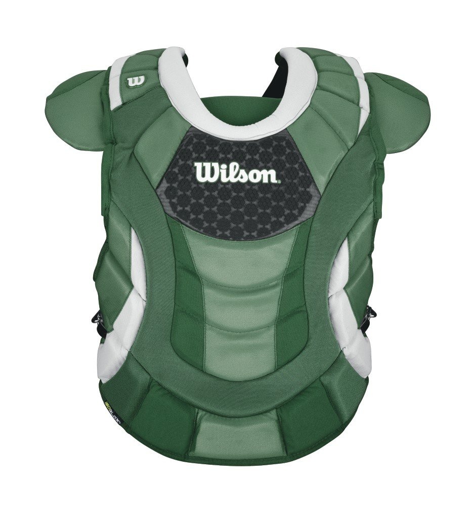 Wilson Promotion Fast Pitch Chest Protector with Isoblox, Dark Green, Adult