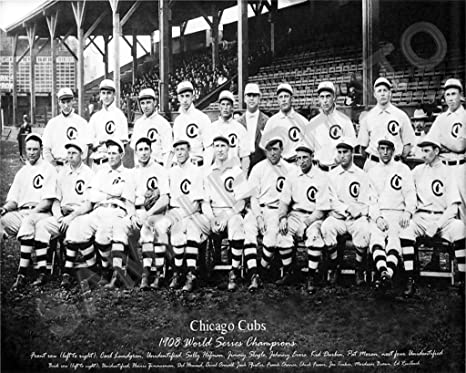 33bfbdee 1908 Chicago Cubs World Series Champions 8x10 Photo