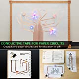 6 PCS Copper Foil Tape with Double-Sided Conductive Adhesive,【1/4inch X 21.8yards】PEMOTech Conductive Copper Tape for Stained Glass, EMI Shielding, Soldering, Grounding, Paper Circuit, DIY Craft