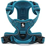 Louvra Small Dog Harness Soft Padded No Pull Dog Harness Blue Heavy Duty Dog Vest Harness with Handle Reflective Adjustable Step In Balance Harness for Puppy Small Pets Outdoor Training Walking Running (Blue,S)