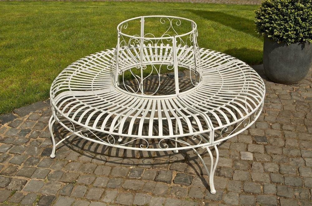 Panchina Rotonda : Clp panca circolare 360° in metallo kayden stile rustico panca