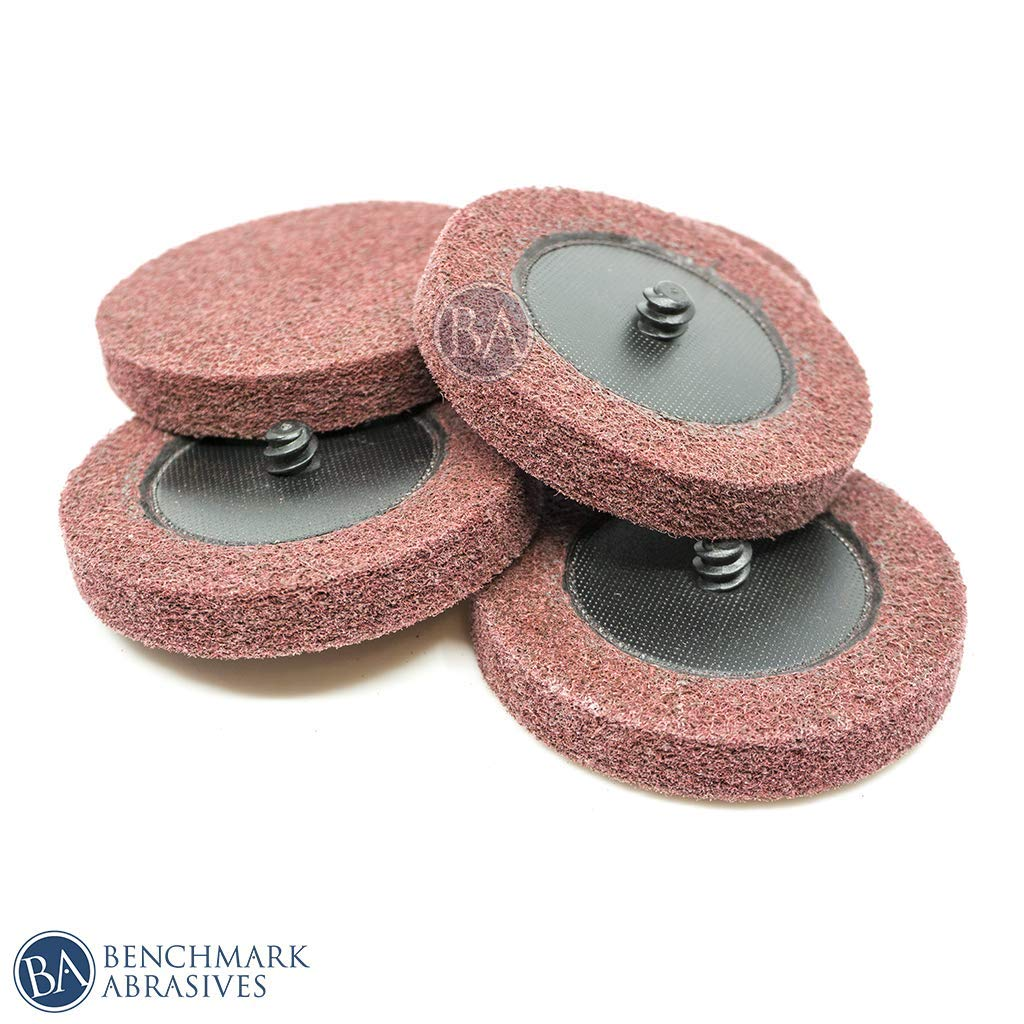 Benchmark Abrasives 3'' Roloc Surface Preparation Discs - 5 Pack (Maroon - Fine)