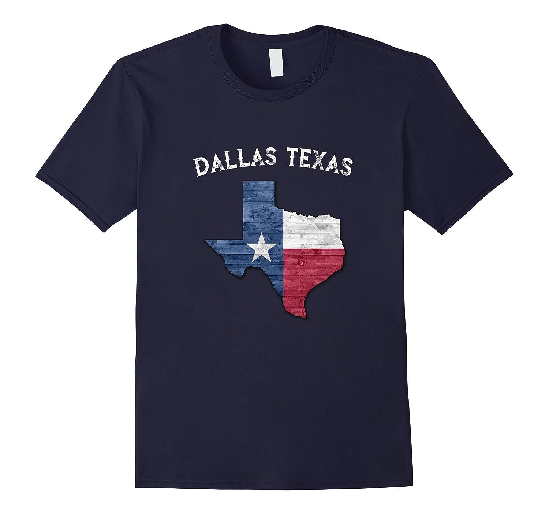 Dallas Texas Flag T-Shirt-FL