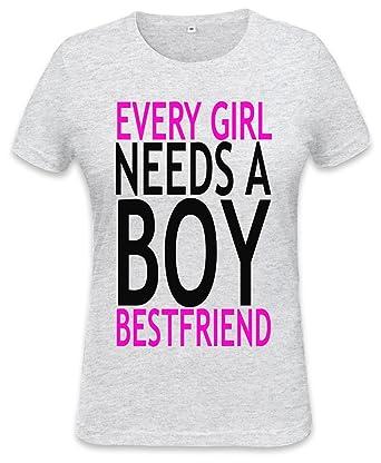 ab3f5b8de Every Girls Neesd A Boy Bestfriend Slogan Womens T-shirt XX-Large:  Amazon.co.uk: Clothing