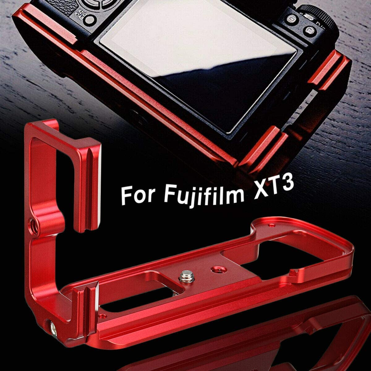AKDSteel Quick Release L-Plate Staffa di montaggio per Fu-ji X-T3 Fu-jifilm XT3 ARCA in buona stabilit/à