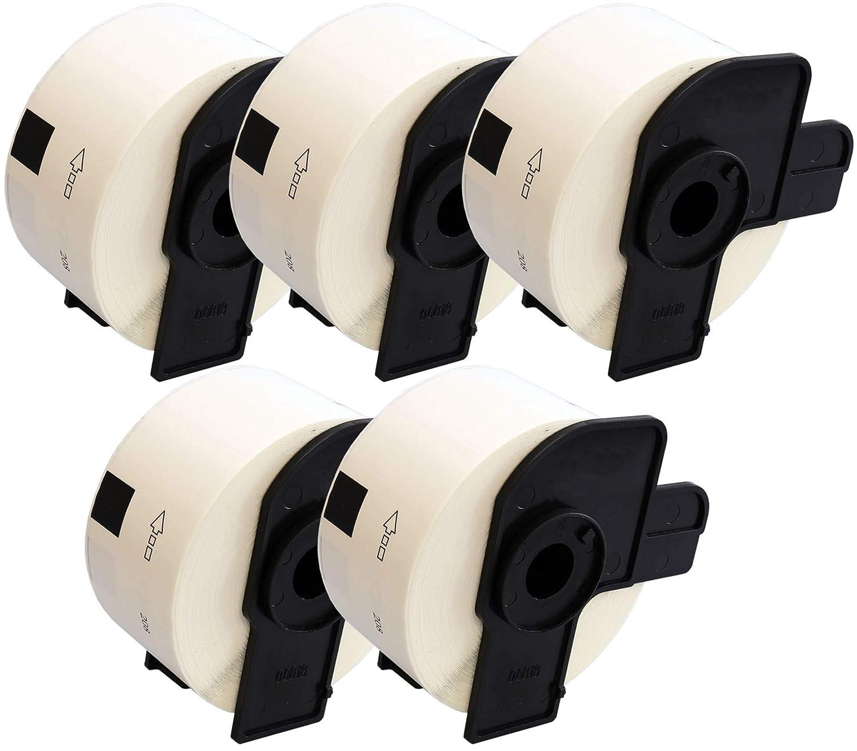 Lot de 10 Prestige Cartridge DK11208 Rouleau Papier Etiquettes compatible pour Brother P-Touch 38mm x 90mm