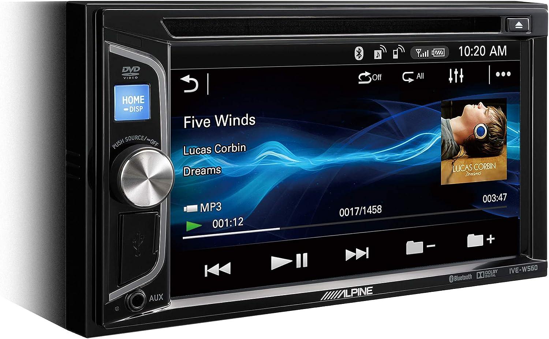 Alpine IVE-W560BT - Sistema multimedia (200 W, pantalla WVGA, CD/DVD integrado, con Bluetooth, 2 salidas de preamplificación), negro