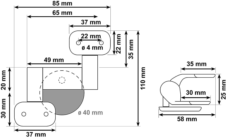 CORNAT Juego de fijaci/ón para Camero WC-asiento KSCAM00 TEC364881