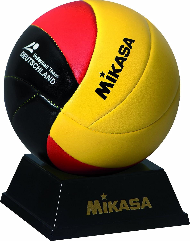 Mikasa MVA 1.5DE 1964Mini Balle de Volley-Ball, équipe Allemande, Noir/Rouge/doré