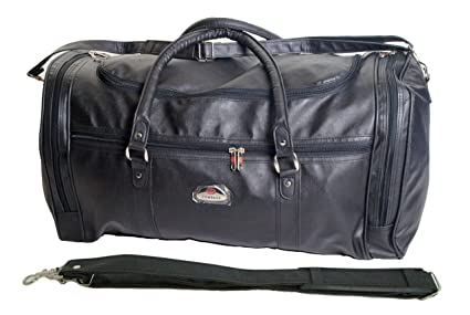 e830a6f563 Image Unavailable. Image not available for. Colour  Ultra Strong Large  Leather Look Holdall Weekend Travel Bag ...