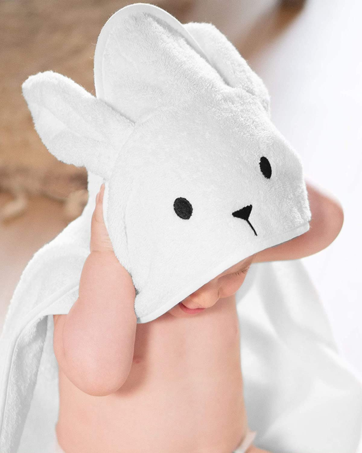 Powder Blue Imperium 11 100/% Soft Cotton Hooded Bunny Rabbit Unisex Baby Kids Childern Towel Wrap up in 5 Colours