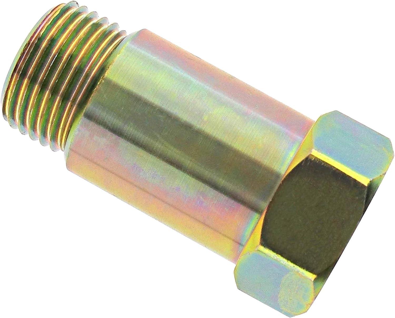 Keenso 90 Grad Winkel Extender Spacer Bung Adapter Verl/ängerung Fix Kit f/ür Auspuffanlagen mit M18 x 1,5 Sensorl/öchern