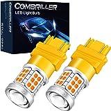 Combriller 3157 LED Bulb Amber Yellow Super Bright, 3056 3156 3057 3157 led bulb for led reverse lights turn signal bulb brak