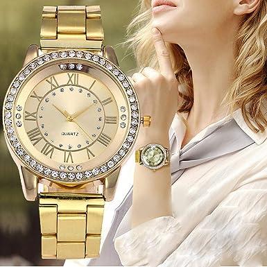 BBestseller Reloj para Mujer,Moda Metal del Diamante Lujo Venda Cuarzo Analógico Reloj Pulsera Impermeable Reloj Fitness (A): Amazon.es: Ropa y accesorios