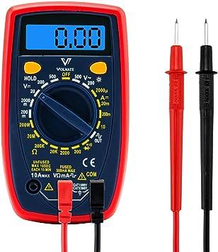 all-sun Mini Multi-function Digital Multimeter LCD Meter Voltmeter Ammeter Voltage Tester