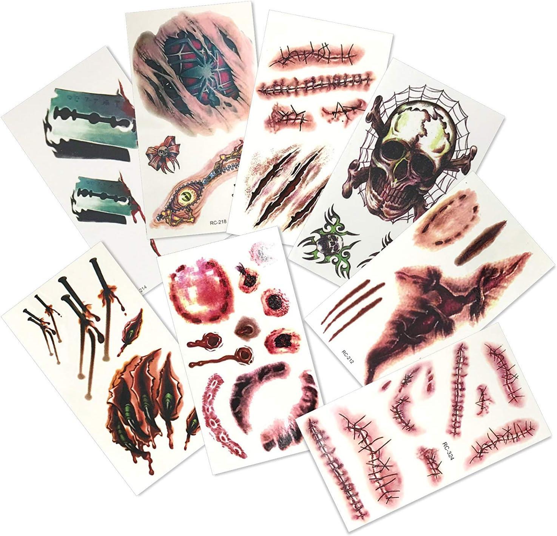 THE TWIDDLERS 15 Páginas de Tatuajes Falsos Temporales Disfráz de ...