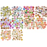 EAST-WEST Trading Buntes Bastel-Holzknöpfe-Set, 300 Stück, Holzknöpfe mit wunderschönen Unterschiedlichen Designs