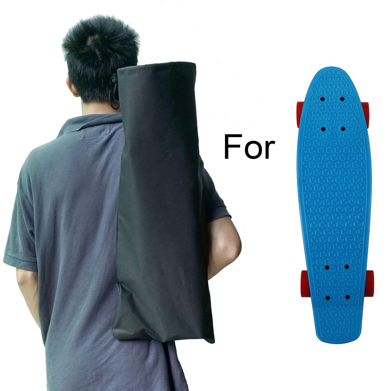 1958eca482a7 Amazon.com   Cooplay Black Small Penny Banana Skateboard Backpack Mini  Carry Bag 22