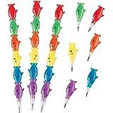 Fun Express Plastic Shark Stackable Pencils - 12 ct