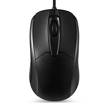 bff611e3521e Perixx PERIMICE-209 3 Button USB Wired Mouse - Optical - 1000 DPI - 6 Ft  Cable - Black