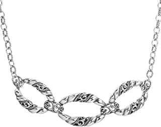 product image for Carolyn Pollack Sterling Silver Signature Link Necklace 17 to 20 Inch