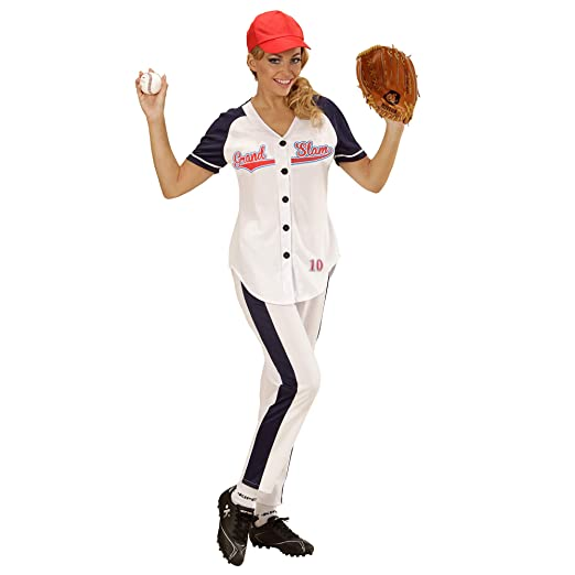 WIDMANN Disfraz de jugadora de béisbol para Mujer - L
