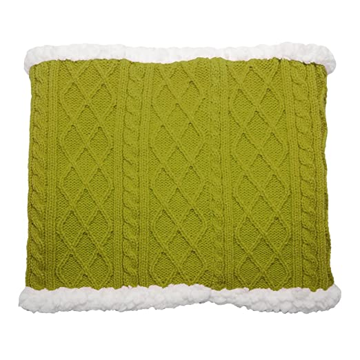 Pudus cable knit green adult one size cozy winter snood (Gaiter) at ... 7f76d0f58f36