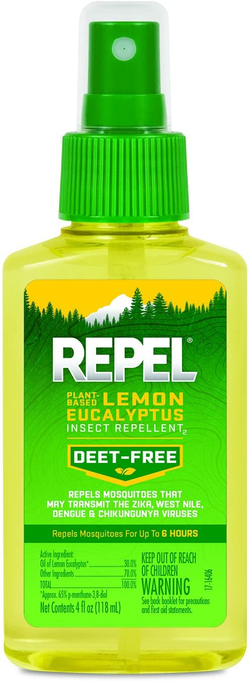 REPEL Plant-Based Lemon Eucalyptus Insect Repellent, Pump Spray, 4-Ounce, 6-Pack: Garden & Outdoor