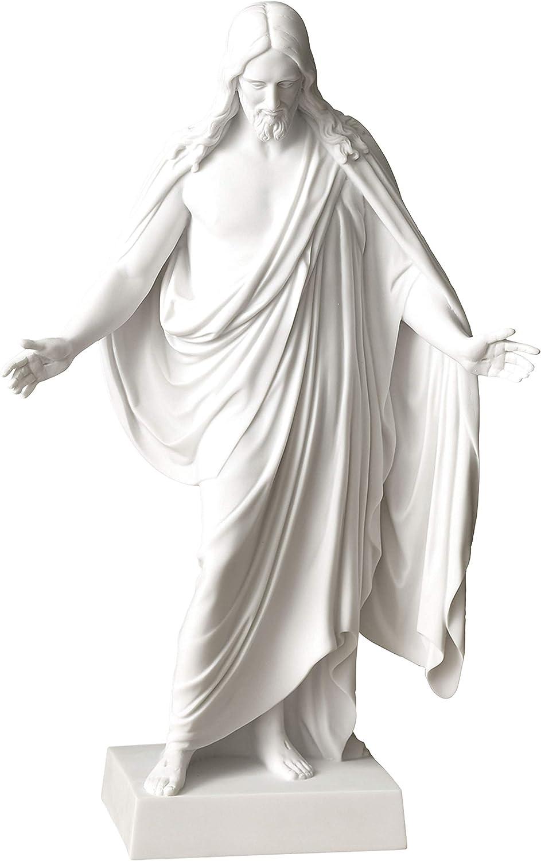 "Belosol Christus Statue 12"" Jesus Christ Cultured White Marble"
