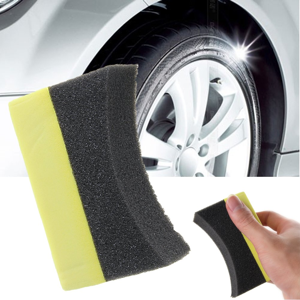 CoralStore 5 Pcs Car Tyre Professional Sponge Tire Dressing Applicator Curved Foam