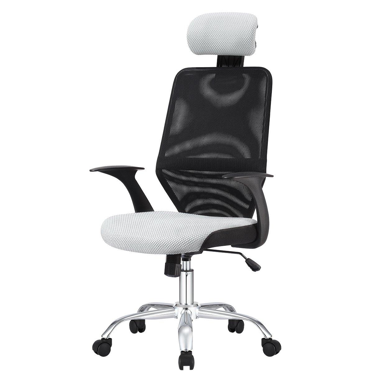 メッシュチェア オフィスチェア チェア パソコンチェア 椅子 ビジネス 北欧風 一年保証 (グレー) B078RL19GS  グレー