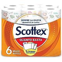 Scottex Quanto Basta Carta Cucina Opzione Mezzo Strappo, 6 Maxi Rotoli