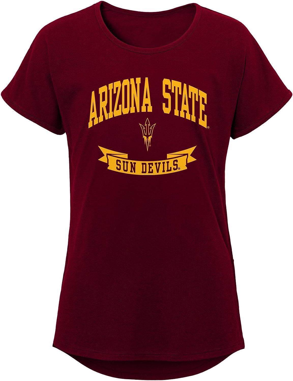 NCAA  Girls Outerstuff Short Sleeve Dolman Tee