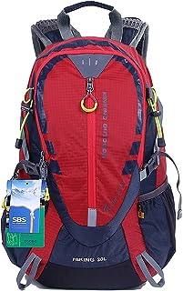 EGOGO 30L Sac à Dos de Randonnée Imperméable étanche Sac à Dos Voyage Trekking Camping avec couverture de pluie S2310