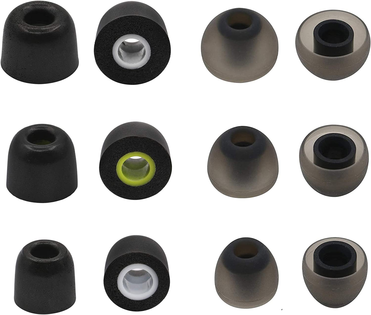 6 Pair Gray S//M//L 3 Sizes 6 Pairs Soft Noise-Isolation Silicone Replacement Earbud Tips Fit for Jaybird Bluebuds X3 X2 X Earphone Bluebud X3 Tip ALXCD Eartips for Jaybird X X2 X3 Headphone