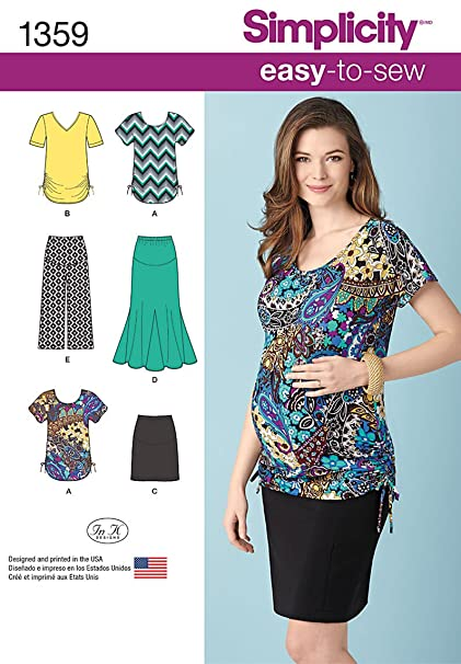 Amazon Simplicity Easy To Sew Pattern 1359 Misses Maternity