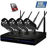 A-ZONE 4 Canales Kit de Videovigilancia full HD 1080P NVR 4x ...
