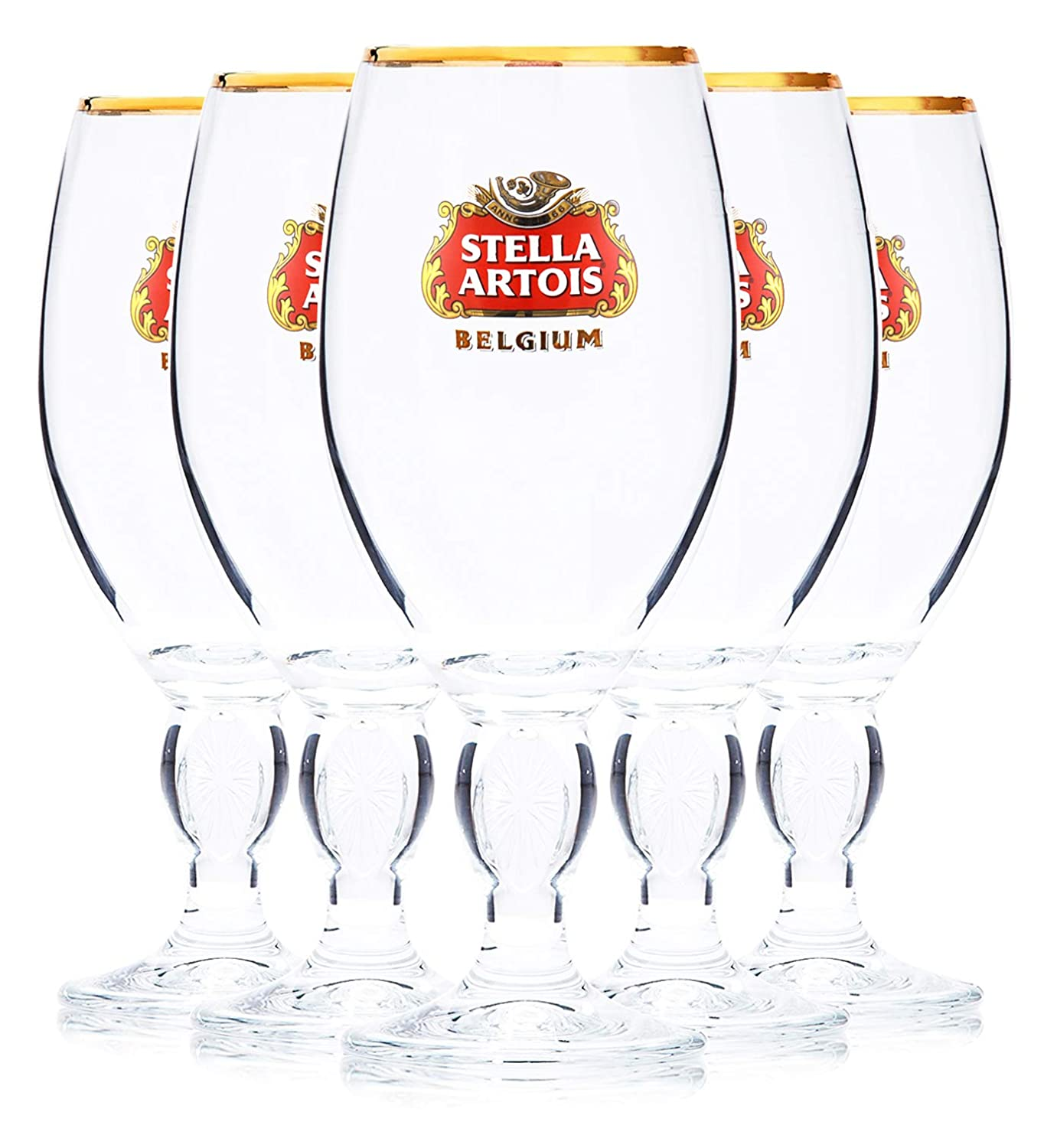 Stella Artois 5-Pack Original Beer Glass Chalice, 40cl
