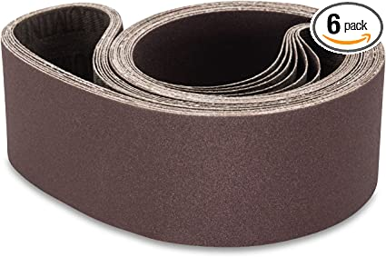 2 1//2 X 48 Inch 100 Grit Aluminum Oxide Metal Sanding Belts 6 Pack