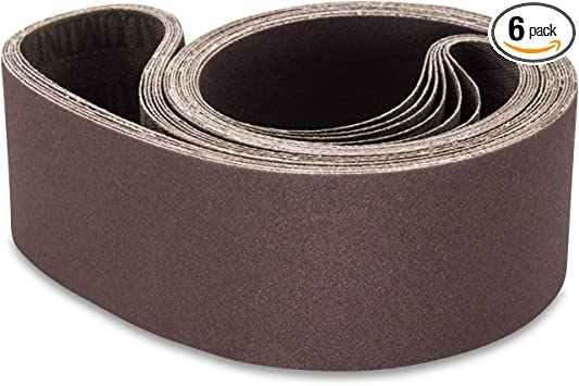"Metal Working 6-pack 2/"" x 42/"" 400 Grit Premium Sanding Belts"