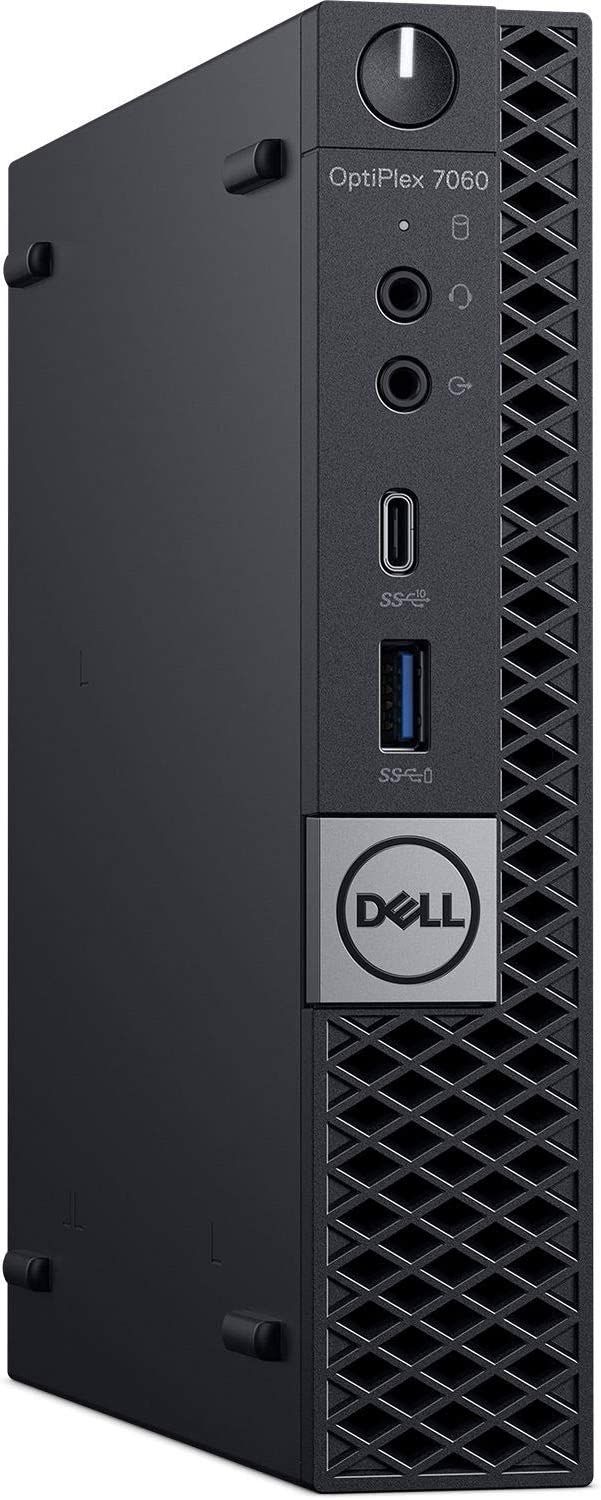 Dell OptiPlex 7060 Micro Form Factor Desktop Computer, Intel Core i7-8700T, 16GB DDR4-2666 (2x8GB), 512GB NVMe Solid State Drive, Windows 10 Pro