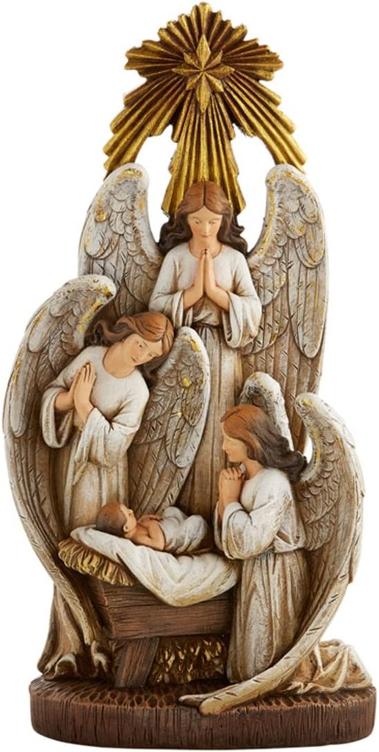 Angels in Adoration Resin Christmas Nativity Figurine Statue 13 Inch