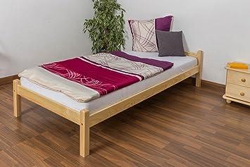 Cama futón (Pino 90 x 200 cm color natural con somier ...