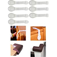 RK's Child Baby Toddler Infant Safety Lock for Drawer Fridge Cabinet etc, 7 -Pieces, White