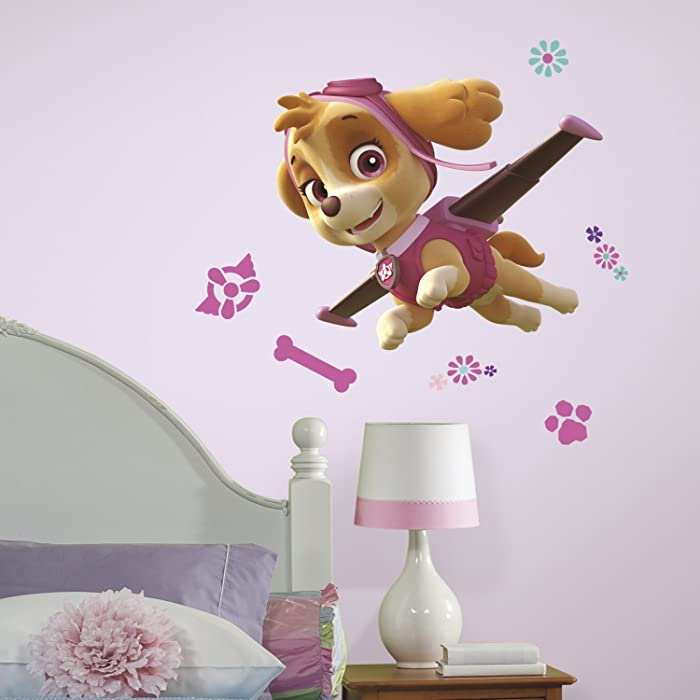RoomMates Paw Patrol Skye Peel And Stick Giant Wall Decals