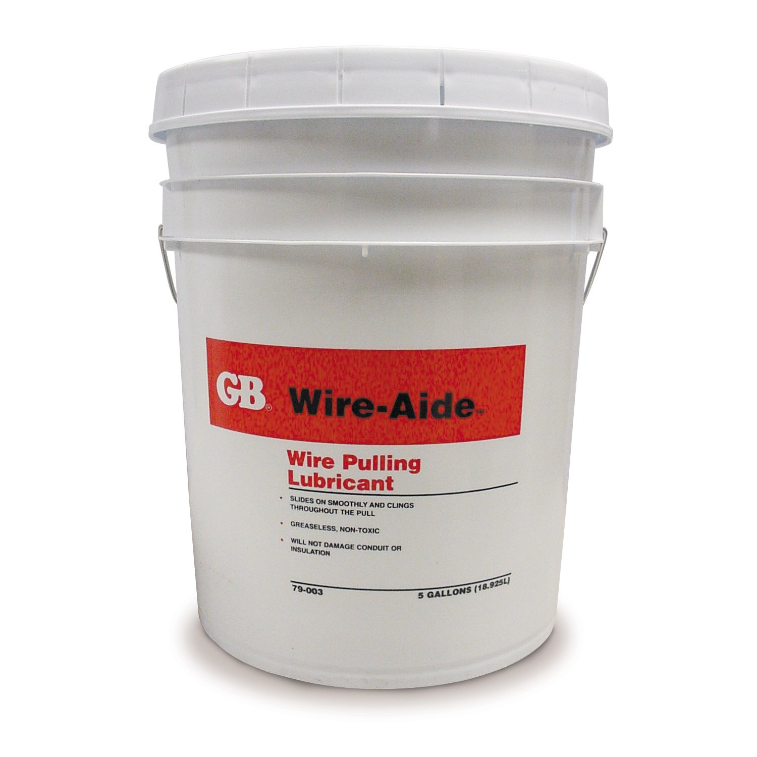 Gardner Bender 79-203 Poly-Gel, Cable Pulling Lubricant, 28° - 200°F, Dries Clear, Conduit & Fiber-Optic Cable Insulation, 5 Gal. Bucket, Blue by Gardner Bender (Image #1)
