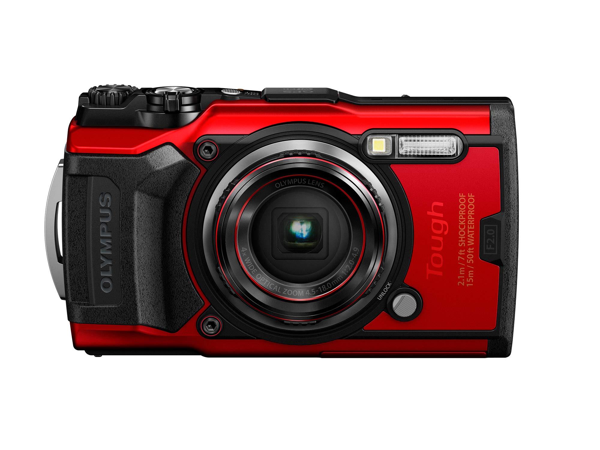 Olympus Tough TG-6 Waterproof Camera, Red by Olympus