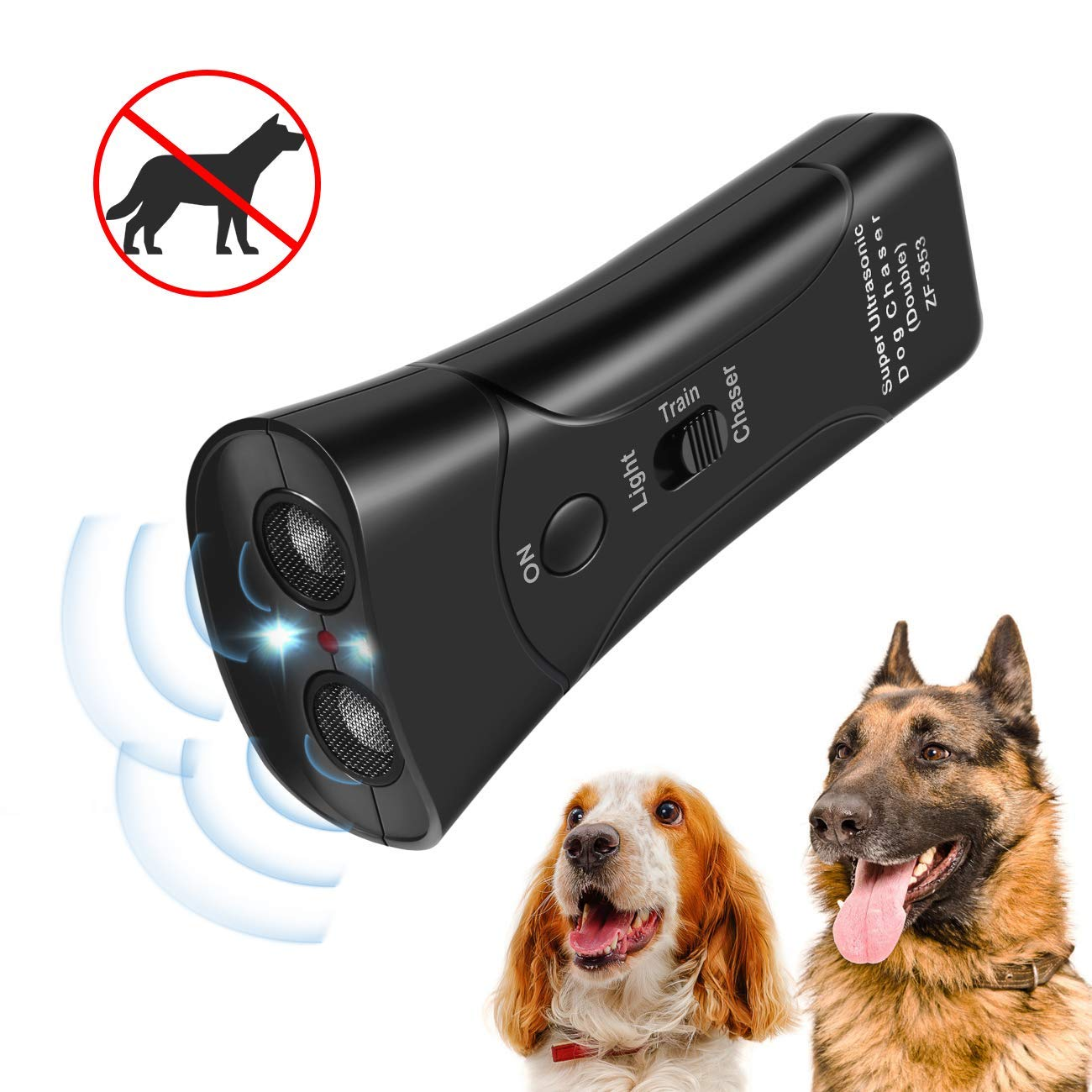 InooSky Anti Barking Handheld 3 in 1 Pet LED Ultrasonic Dog Trainer Device - Electronic Dog Deterrent/Training Tool/Stop Barking by Inoosky