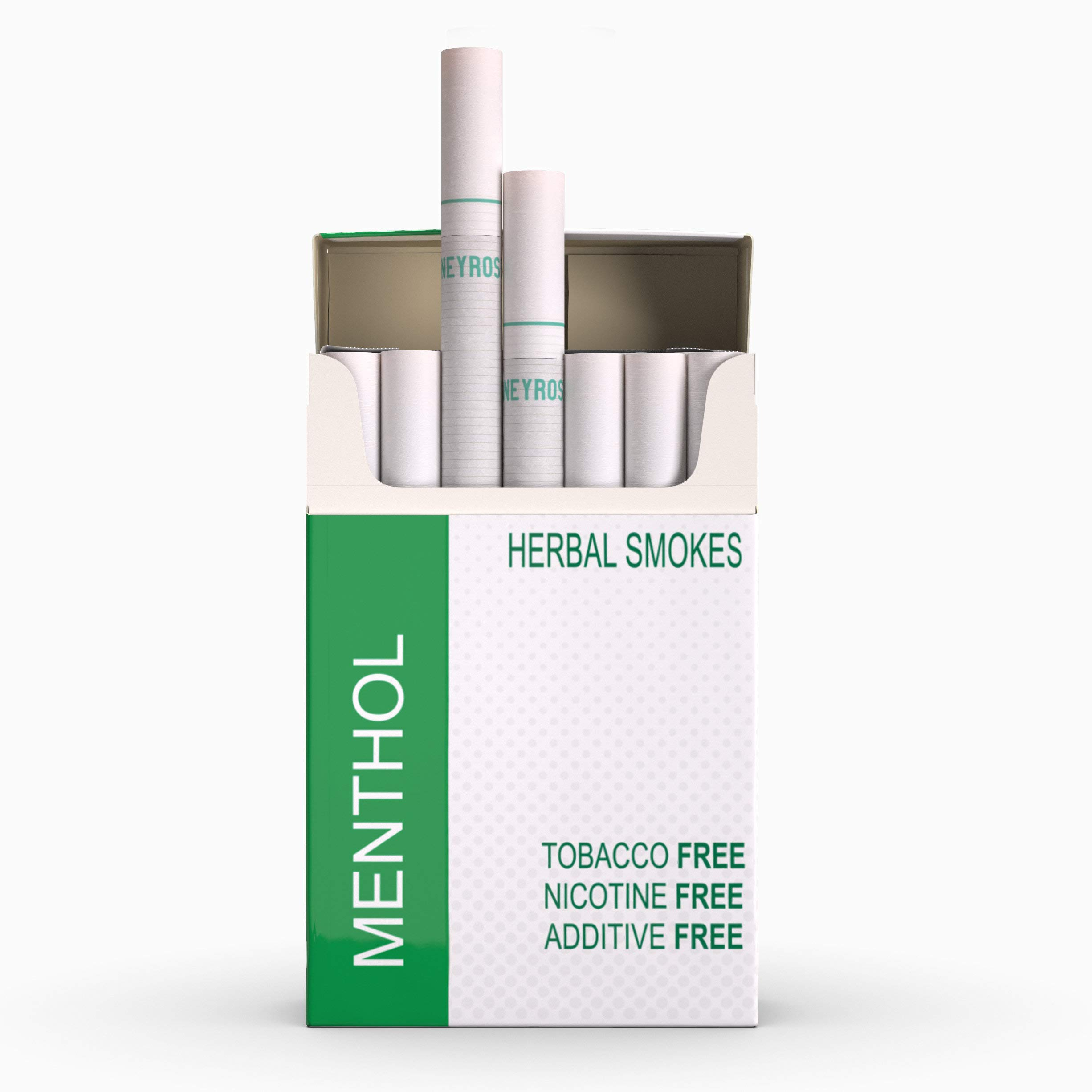Honeyrose Menthol - Tobacco & Nicotine Free Herbal Cigarettes, 100% Natural, Made in England